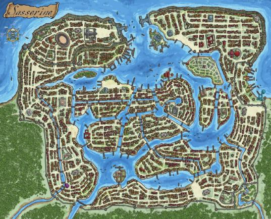 Sasserine Map